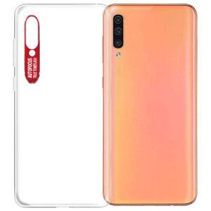Прозрачный силиконовый TPU чехол Epic clear flash для Samsung Galaxy A50 / A30s 2019 – Красный