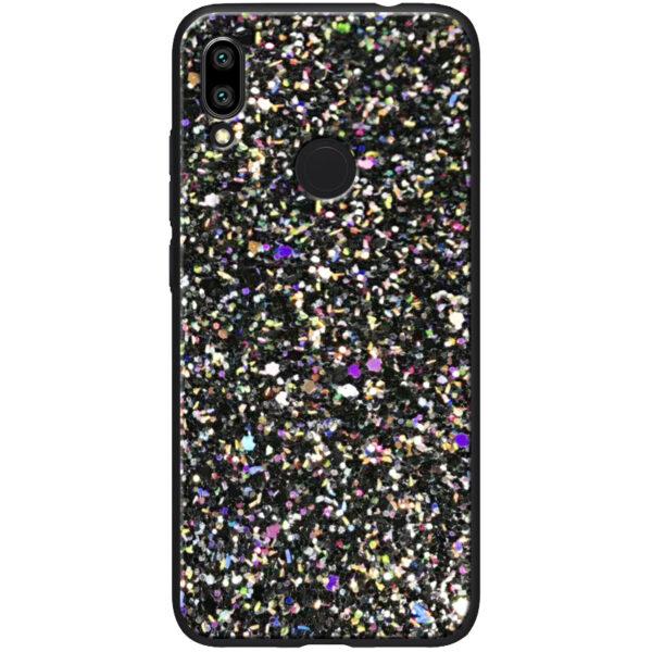 TPU чехол Glitter Crystal с блестками для Xiaomi Redmi Note 7 / 7 Pro – Черный