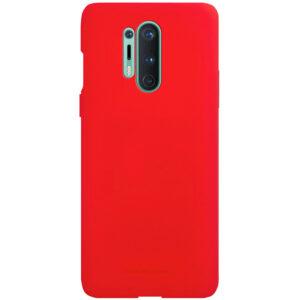 Силиконовый чехол TPU Molan Cano Smooth для OnePlus 8 Pro  — Красный