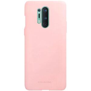 Силиконовый чехол TPU Molan Cano Smooth для OnePlus 8 Pro  — Розовый