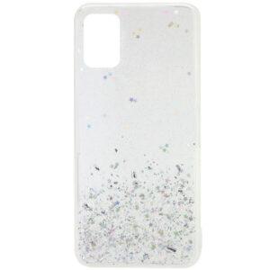 Cиликоновый чехол с блестками Shine Glitter для Samsung Galaxy A31 – Прозрачный