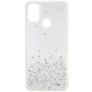 Cиликоновый чехол с блестками Shine Glitter для Samsung Galaxy M30s / M21 – Прозрачный