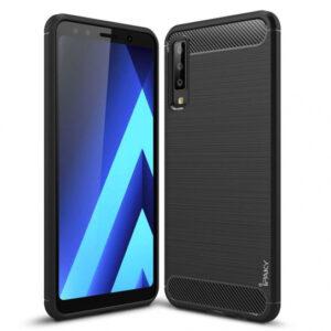 Силиконовый чехол Ipaky Slim Series для Samsung Galaxy A7 2018 A750 – Черный