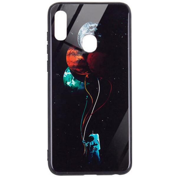 TPU+Glass чехол Night case светящийся в темноте для Xiaomi Redmi Note 7 / Note 7 Pro – Космос / Черный