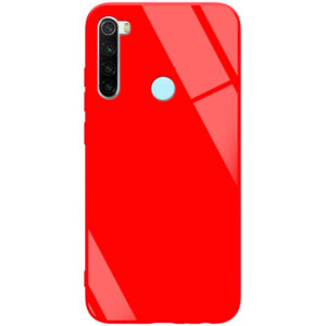 TPU+Glass чехол GLOSSY для Xiaomi Redmi Note 8 – Красный / Red