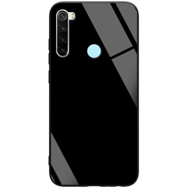 TPU+Glass чехол GLOSSY для Xiaomi Redmi Note 8 – Черный / Black