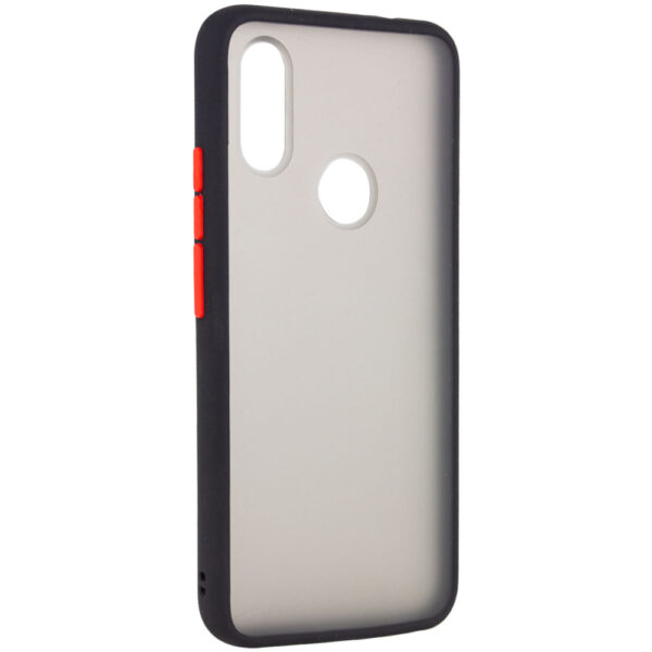 Чехол TPU+PC Soft-touch with Color Buttons для Xiaomi Redmi Note 7 / 7 Pro – Черный