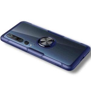 Чехол TPU+PC Deen CrystalRing с креплением под магнитный держатель для Xiaomi Mi 10 / Mi 10 Pro – Синий