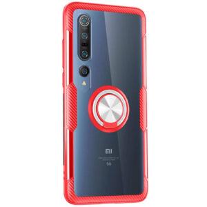 Чехол TPU+PC Deen CrystalRing с креплением под магнитный держатель для Xiaomi Mi 10 / Mi 10 Pro – Красный