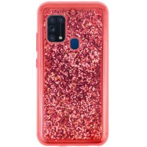 TPU+PC чехол Sparkle glitter для Samsung Galaxy M31 – Красный