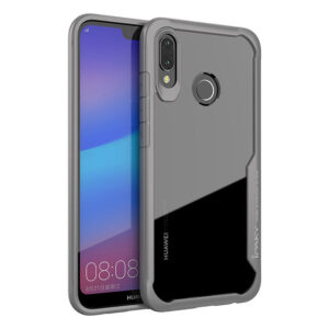 Прозрачный чехол TPU+PC Ipaky Luckcool Series для Huawei P20 Lite – Серый
