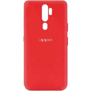Оригинальный чехол Silicone Cover My Color (A) с микрофиброй для Oppo A9 (2020) – Красный / Red