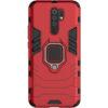 Ударопрочный чехол Transformer Ring под магнитный держатель для Xiaomi Redmi 9 – Красный / Dante Red