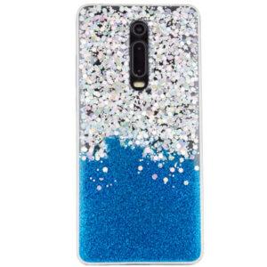 Cиликоновый чехол Galaxy Glitter для Xiaomi Redmi K20 / K20 Pro / Mi 9T / Mi 9T Pro – Синий