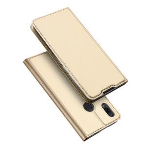 Чехол-книжка Dux Ducis с карманом для Xiaomi Redmi 7 — Золотой