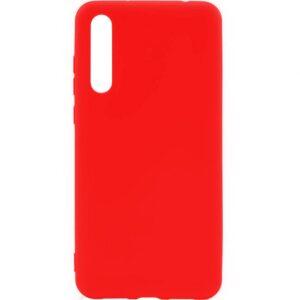 Матовый силиконовый TPU чехол на Huawei P20 Pro – Красный