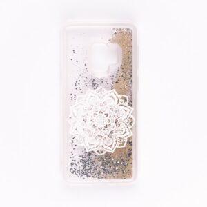 TPU+PC чехол Lovely Stream с переливающимися блестками для Samsung Galaxy S9 (G960) – White mandala