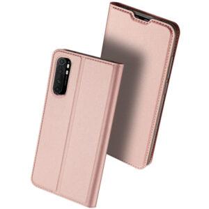 Чехол-книжка Dux Ducis с карманом для Xiaomi Mi Note 10 Lite — Rose Gold