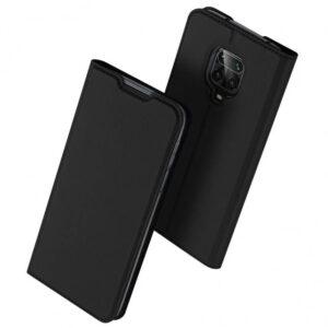 Чехол-книжка Dux Ducis с карманом для Xiaomi Redmi Note 9s / Note 9 Pro / Note 9 Pro Max — Черный