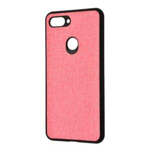 Чехол TPU+PC New Textile Case для Xiaomi Mi 8 Lite / Mi 8 Youth – Pink
