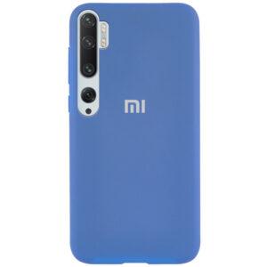 Оригинальный чехол Silicone Cover 360 с микрофиброй для Xiaomi Mi Note 10 / Mi Note 10 Pro – Голубой / Azure