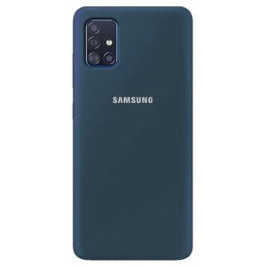 Оригинальный чехол Silicone Cover 360 с микрофиброй для Samsung Galaxy A51 – Синий / Cosmos blue