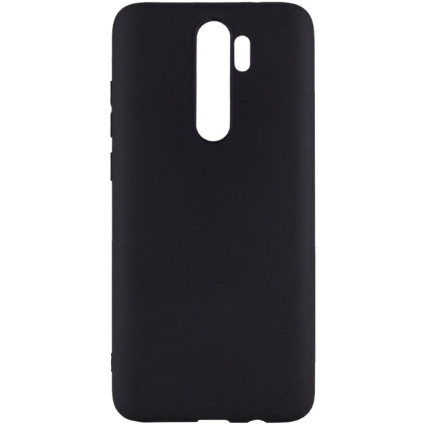 Матовый силиконовый TPU чехол для Xiaomi Redmi 9 – Черный