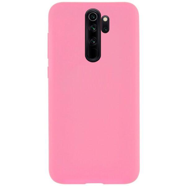 Чехол Silicone Cover Full without Logo (A) с микрофиброй для Xiaomi Redmi 9 – Розовый / Pink