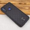 Кожаный чехол-накладка PULOKA Argyle для Xiaomi Redmi Note 7 / 7 Pro – Черный 67361