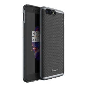 Фирменный чехол бампер Ipaky TPU+ PC для OnePlus 5 – Gray