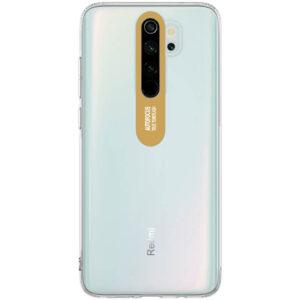 Прозрачный силиконовый TPU чехол Epic clear flash для Xiaomi Redmi Note 8 Pro – Золотой