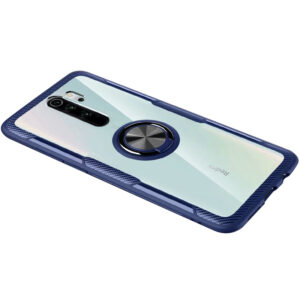 Чехол TPU+PC Deen CrystalRing с креплением под магнитный держатель для Xiaomi Redmi 9 – Синий