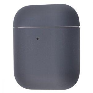 Чехол для наушников Silicone Case Ultra Slim для Apple Airpods 2 – Gray