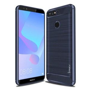 Силиконовый чехол Ipaky Slim Series для Huawei Honor 7A Pro / Y6 Prime 2018 – Синий