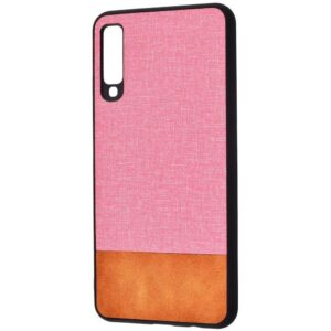 Чехол TPU+PC New Textile Case для Samsung Galaxy A7 2018 A750 – Pink brown