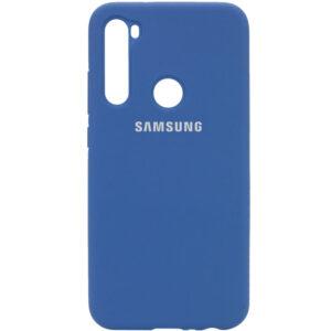 Оригинальный чехол Silicone Cover 360 с микрофиброй для Samsung Galaxy A21 – Синий / Navy Blue