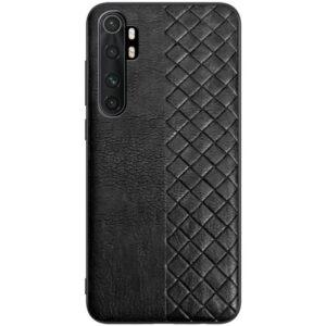 Кожаный чехол WeaveSide (PU) для Xiaomi Mi Note 10 Lite – Черный