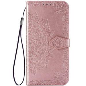 Кожаный чехол-книжка Art Case с визитницей для Xiaomi Redmi 9 – Розовый