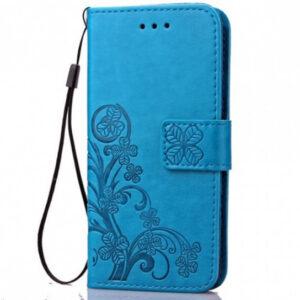 Кожаный чехол-книжка Four-leaf Clover с визитницей для Asus Zenfone Max Pro (M2) – Синий