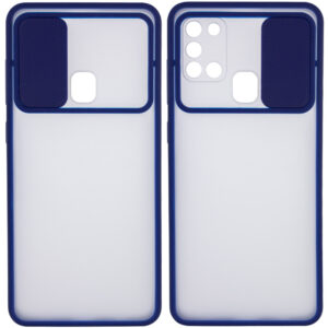 Чехол Camshield mate TPU со шторкой для камеры для Samsung Galaxy A21s – Синий
