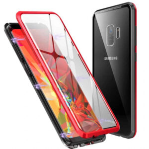 Магнитный противоударный чехол (бампер) 360 градусов защиты для Samsung Galaxy S9 (G960) – Красный