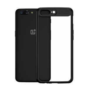 Прозрачный чехол TPU+PC Ipaky Hard Series для OnePlus 5 – Черный