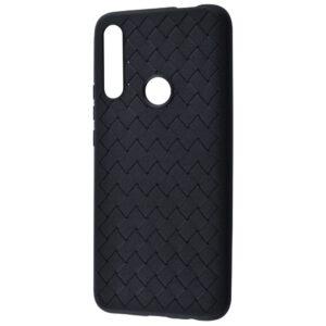 Силиконовый TPU чехол SKYQI плетеный под кожу для Huawei P Smart Z / Honor 9x – Black