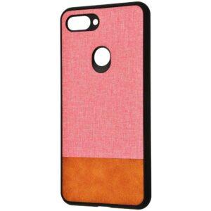 Чехол TPU+PC New Textile Case для Xiaomi Mi 8 Lite / Mi 8 Youth – Pink / brown
