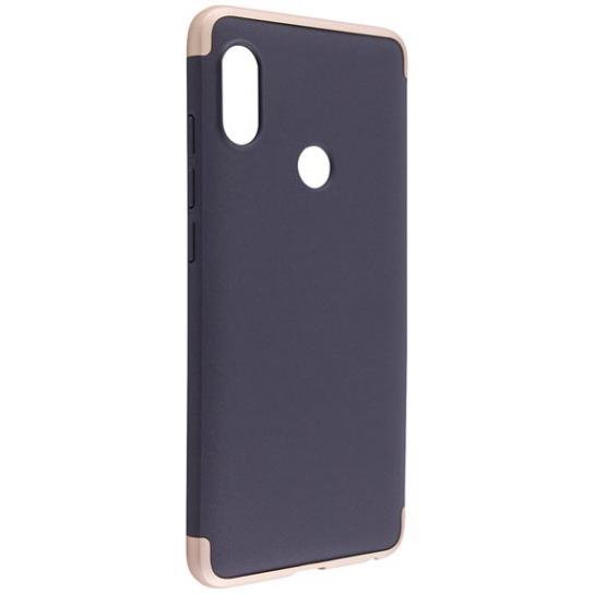 Матовый пластиковый чехол GKK 360 градусов для Xiaomi Redmi Note 6 / 6 Pro – Черный / Серебряный