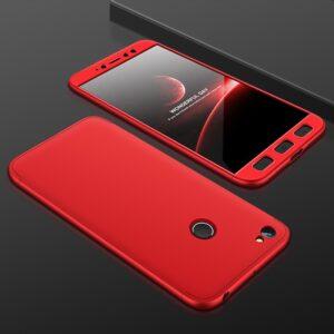 Матовый пластиковый чехол GKK 360 градусов для Xiaomi Redmi 5A / Redmi Go – Красный