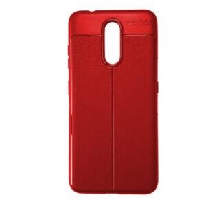 TPU чехол фактурный (с имитацией кожи) для Nokia 3.2 – Red