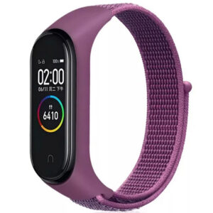 Ремешок Nylon для фитнес-браслета Xiaomi Mi Band 3 / 4 – Фиолетовый