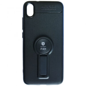 Cиликоновый чехол iFace popsoket под магнитный держатель с кольцом для Xiaomi Redmi 7A – Black
