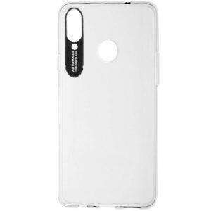 Прозрачный силиконовый TPU чехол Epic clear flash для Samsung Galaxy A20s 2019 (A207) – Черный